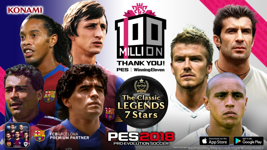 To celebrate hitting the 100 million mark, PES launches its 100
