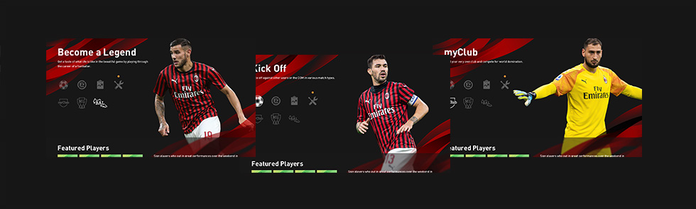 Tema do clube no menu do jogo[AC Milan]