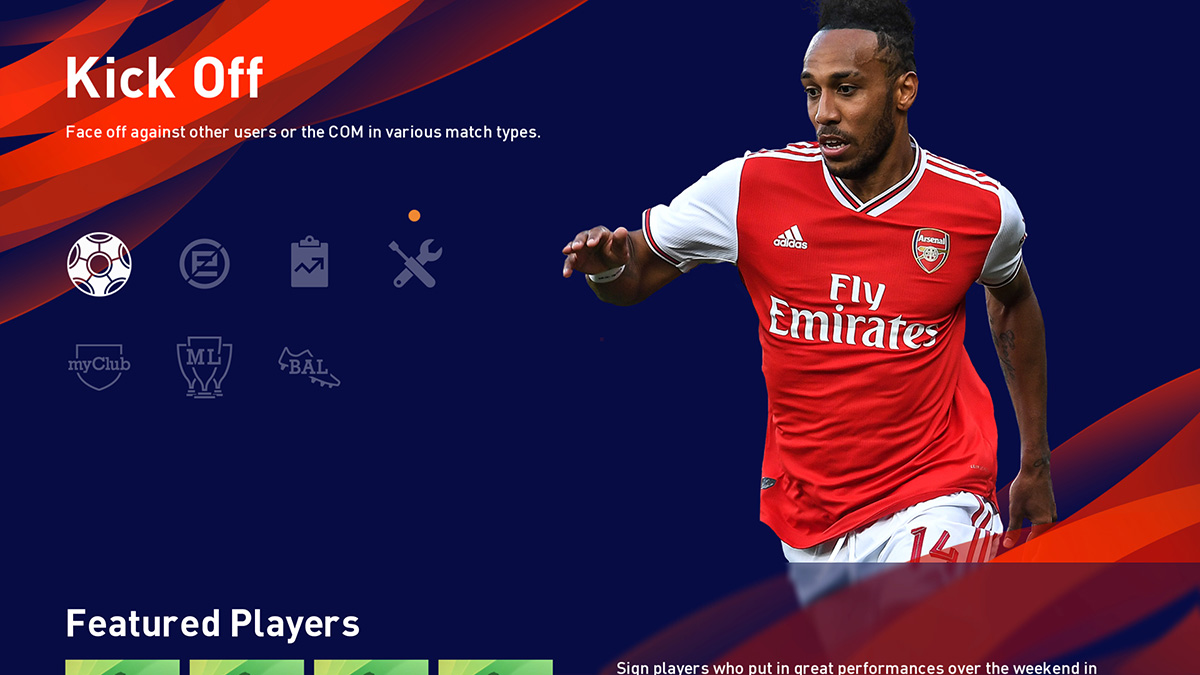 In-game menu club theme[Arsenal FC]