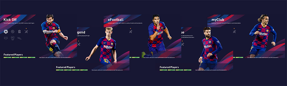 In-game menu club theme[FC Barcelona]
