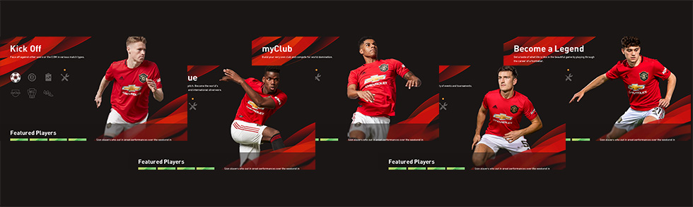 In-game menu club theme[Manchester United]