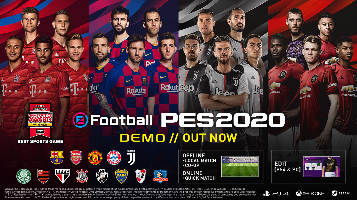 Best Ps3 Games 2020.Demo Pes Efootball Pes 2020 Official Site