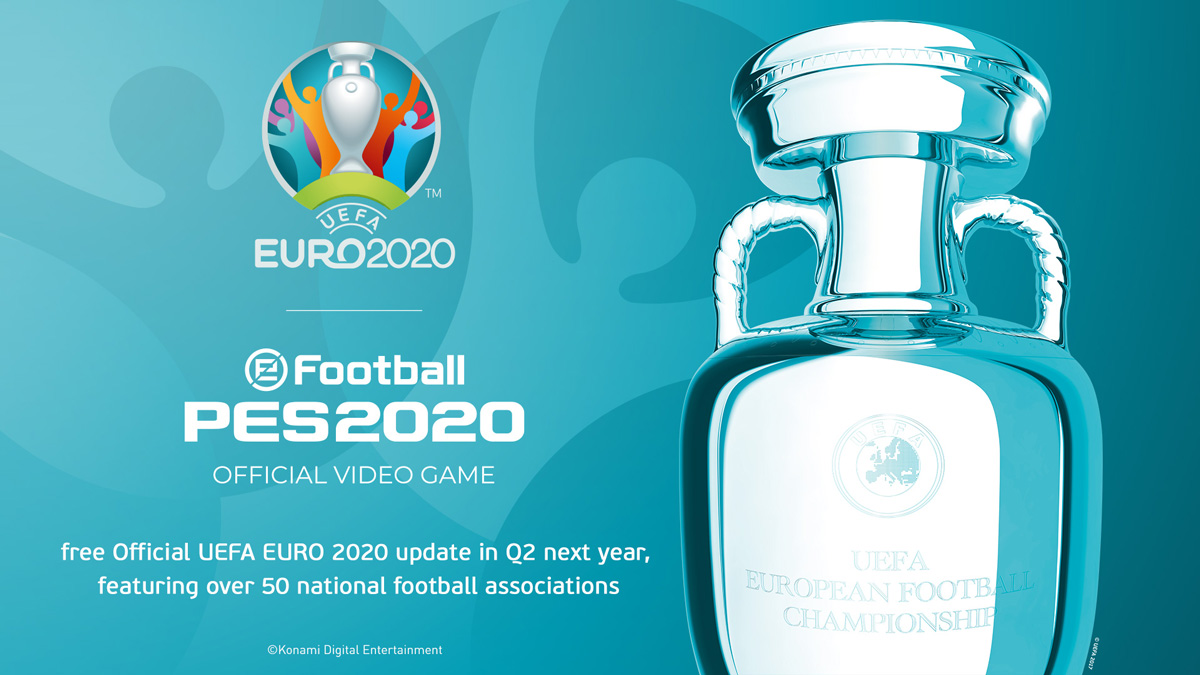 """Exclusive partnership signed with """"UEFA EURO 2020""""   PES - eFootball PES  2020 Official Site"""