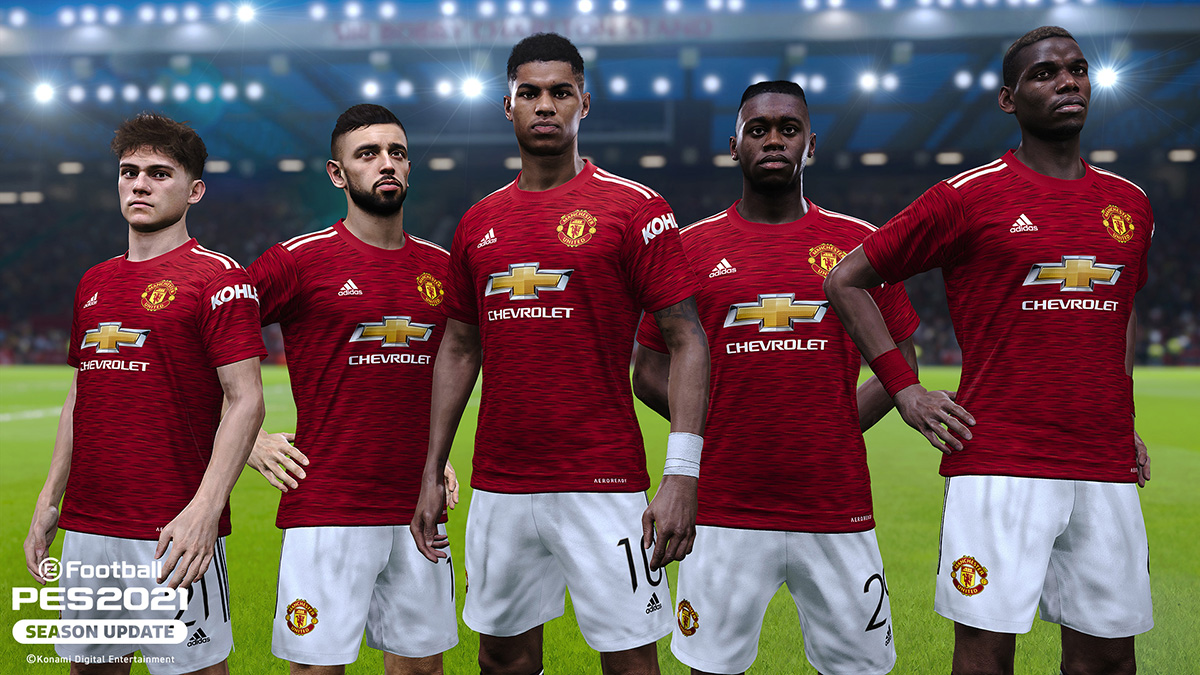 manchester united konami partner clubs pes efootball pes 2021 season update official site manchester united konami partner