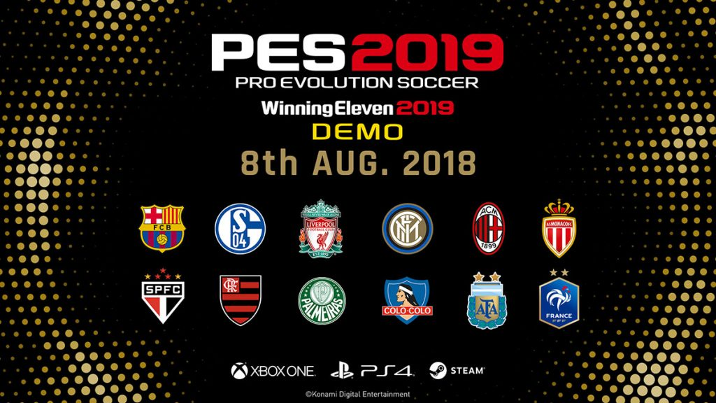 Pro Evolution Soccer 2019 Demo Now Available!