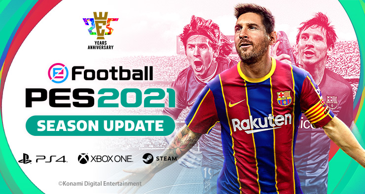 """eFootball PES 2021 Season Update"" website now open."